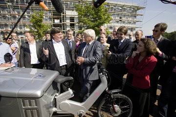 Franz-Walter Steinmeier  SPD Bundesvorsitzender  auf Wahlkampftour im Ruhrgebiet