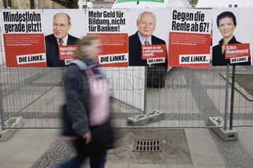 NRW Landtagswahlkampf - DIE LINKE  Wahlplakate