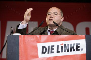 NRW Landtagswahlkampf - DIE LINKE  Gregor Gysi
