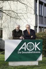 AOK Verwaltungsratsvorsitzende Dr. Volker Hansen und Fritz Schoesser