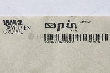Poststempel bzw. Stempel des privaten Briefzustellers pin
