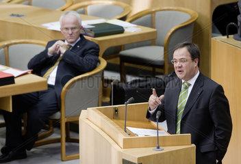Landtag NRW - Laschet und Ruettgers