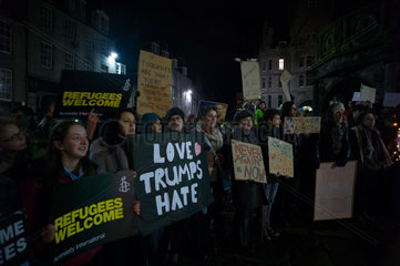 Anti Trump Protest Aberdeen Scotland