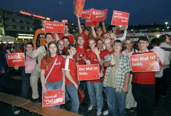Bundestagswahl 2005 - Bundeskanzler Gerhard Schroeder in Bottrop