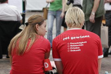 SPD Kundgebung mit Bundeskanzler Gerhard Schroeder
