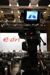 Bilanzpressekonferenz der E.ON AG - Kameramann