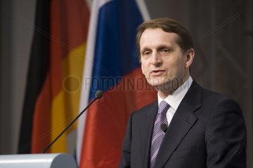 Sergey Naryshkin  stellvertretender russischer Premierminister  auf der CeBIT 2007