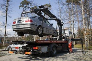 Abschleppen eines Autos