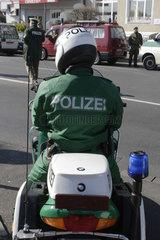 Polizei auf dem Motorrad