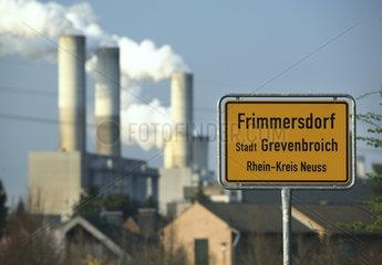 RWE Braunkohlekraftwerk Frimmersdorf