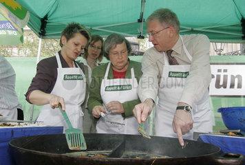 Kochtour der NRW-Spitzenkandidaten von Buendnis 90/Die Gruenen NRW