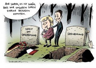 Frankreich und Deutschland legen Griechenland-Streit bei