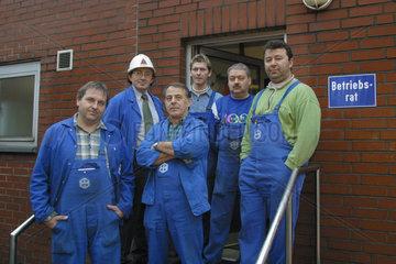 Mitglieder des Betriebsrats der Firma Schmolz+Bickenbach Guss GmbH & Co. KG