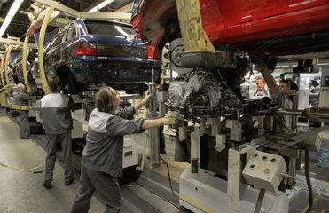 Autoproduktion im Bochumer Opel Werk
