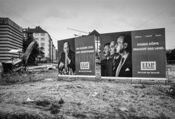 FDP Wahlplakate im Bundestagswahlkampf 1994