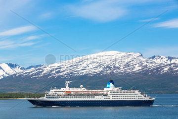 Kreuzfahrtschiff Saga Sapphire bei Tromsa¸