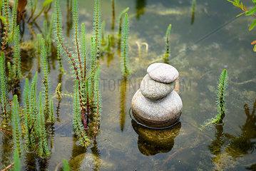Steinhaufen im Wasser