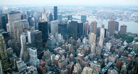 USA  New York  nachtansicht  vom Empire State Building