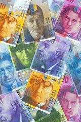 Schweizer Franken Geld aus der Schweiz