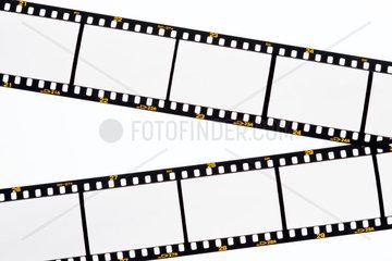 Leere Bilder auf einem Diafilm