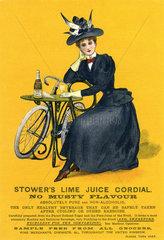Fruchtsaft Werbung  1900