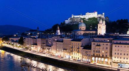 sssterreich  Stadt Salzburg  die Festung Hohensalzburg