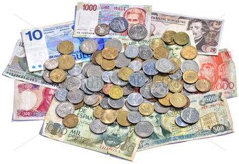 nationale Waehrungen vor der Euro-Einfuehrung  1975 bis 1989
