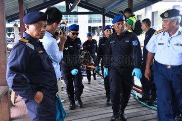 MALAYSIA-KOTA KINABALU-SUNKEN BOAT-BODY