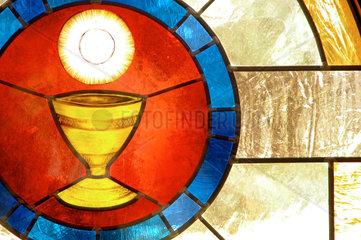 Glasfenster in einer Kirche