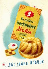 Dr. Oetker's Backpulver Backin  Werbung  1930