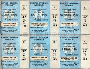 Fussballkarten Fussball-Weltmeisterschaft England  Wembley  1966
