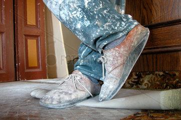 Schuhe eines Malers