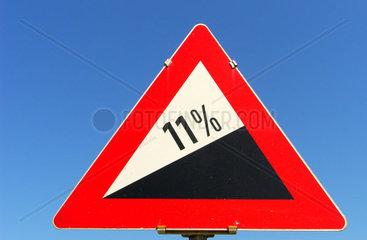 11% Steigung