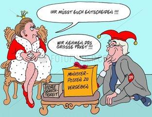 Koenigin Angela Merkelle
