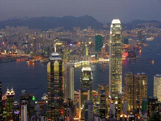 China  Hongkong bei Nacht