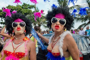 Strassen Karneval Rio de Janeiro
