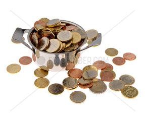 Topf mit Geld als Symbol fuer Steuern und Foerderungen
