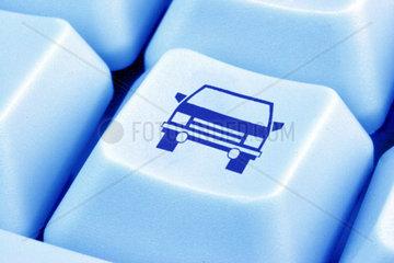 Computertaste mit einem Auto