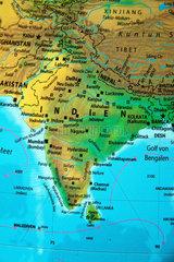 Indien auf einem Globus