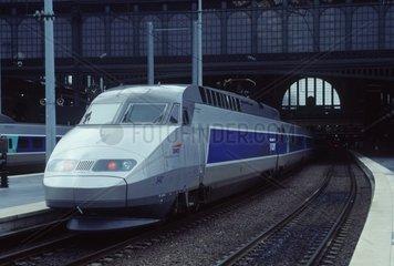 France  Paris Gare du Nord Tgv Blue High Speed