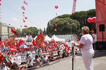 Susanna Camusso CGIL Vorsitzende in Rom