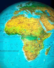 Afrika auf einem Globus