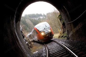 Nebenbahn der ssBB im Tunnel