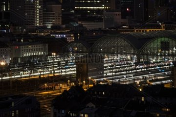 Frankfurt Central Station at Night
