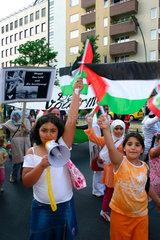 Berlin - Demonstration against War in Libanon and Gaza Strip