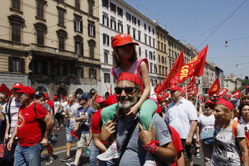 CGIL Demonstrationgegen Die Voucher in Rom