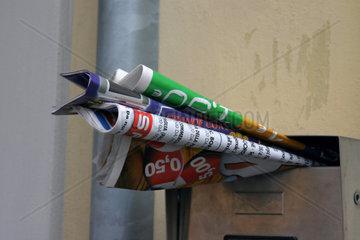Werbung in Briefkasten