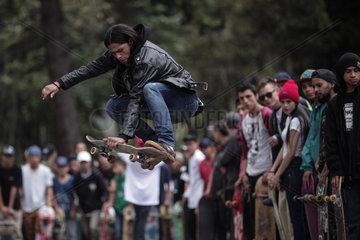 COLOMBIA-BOGOTA-GO SKATEBOARDING DAY