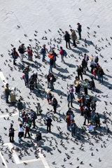 Italien  Venedig  Markusplatz vom Campanile aus gesehen