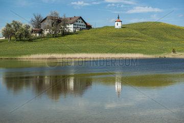 Hergratsrieder See bei Schwangau im Allgaeu